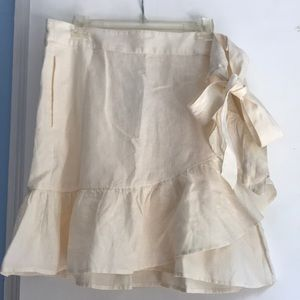 NEVER BEEN WORN 100% linen wrap skirt